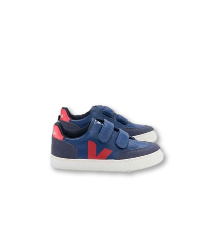 Veja Cobalt and Red Velcro Sneaker-Tassel Children Shoes