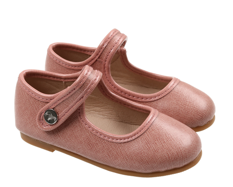 Zeebra Rose Quartz Classic Leather Mary Jane-Tassel Children Shoes