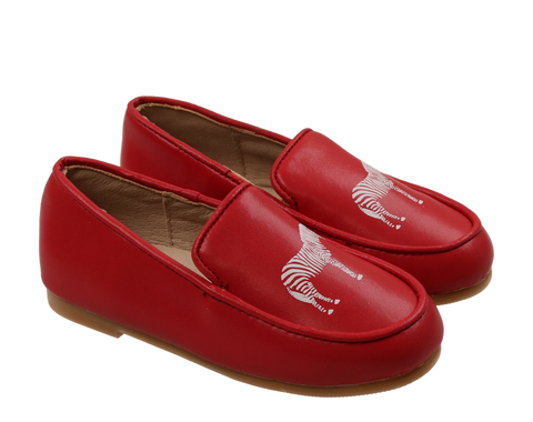 Zeebra Strawberry Red Logo Loafers-Tassel Children Shoes