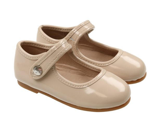 Zeebra Bleached Sand Patent Leather Mary Jane-Tassel Children Shoes
