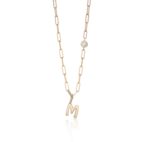 Hi June Parker Paperclip chain with initial letter charm