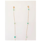 Face Mask Chain with Chrysoprase stone bead stations
