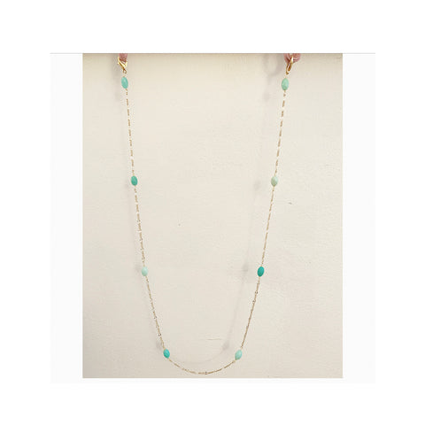 Green Garnet accent Face Mask Chain
