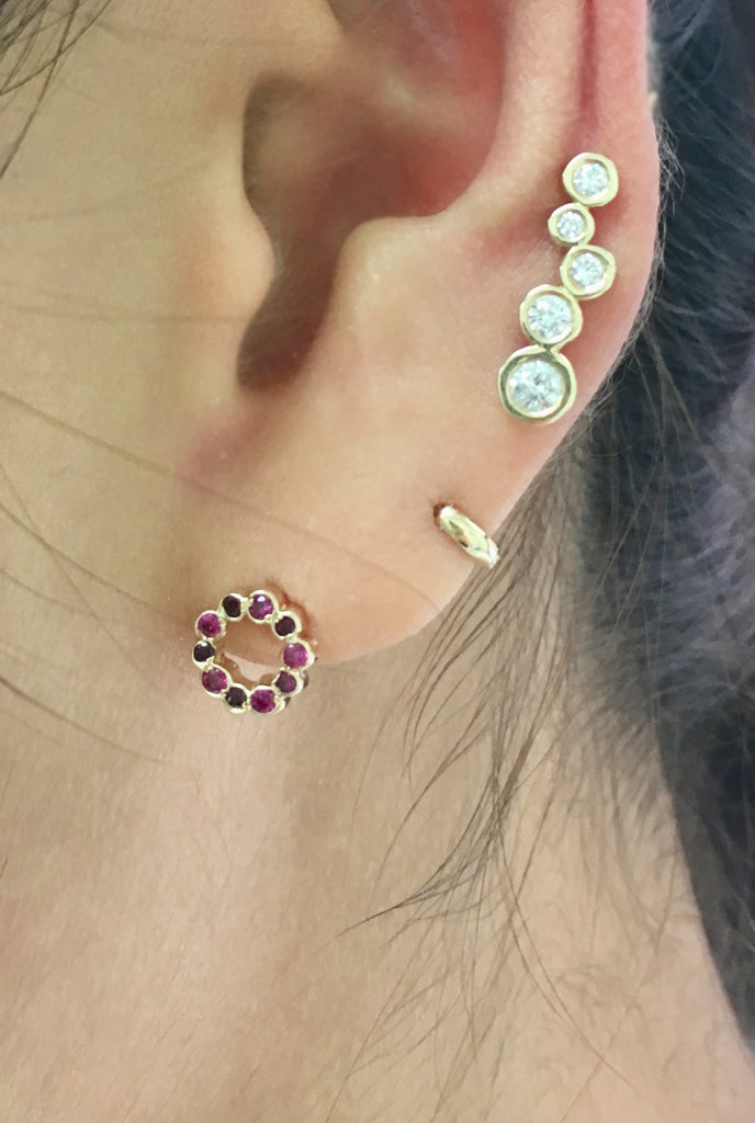 Mini Circle shape stud earrings