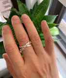 Rolling stackable ring bands, stacking diamond rings, ring bands, wedding rings, engagement rings, linked rings, connected rings, 14k gold