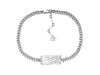 ID choker necklace, Sterling silver choker chain necklace