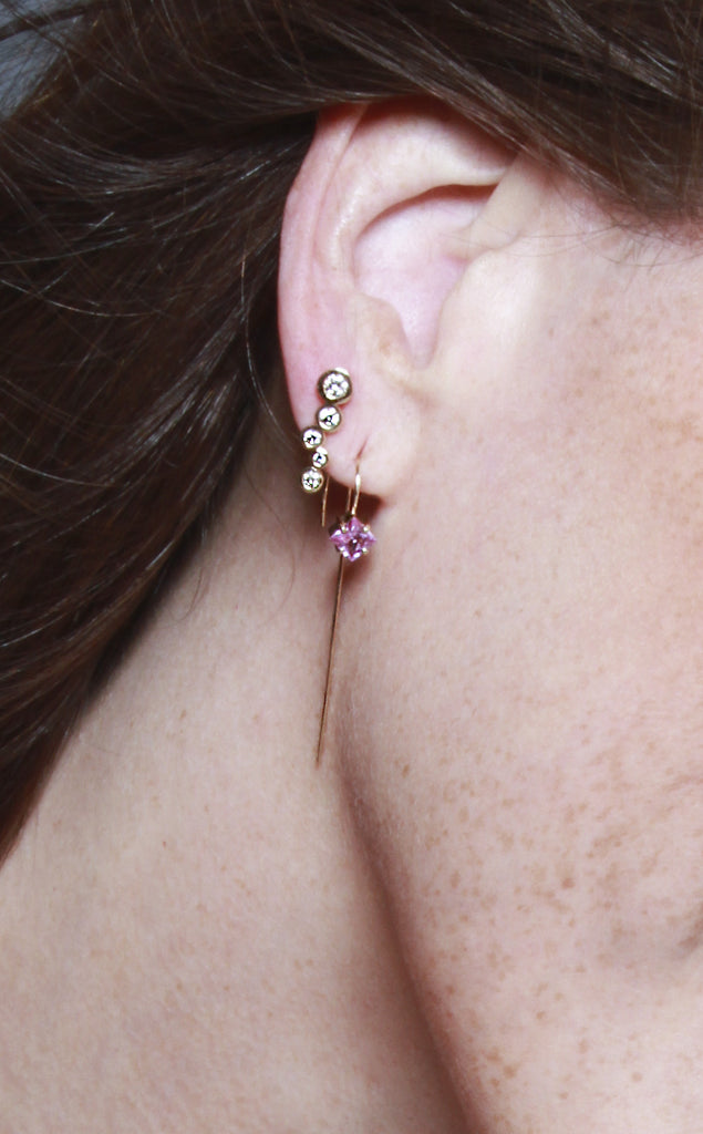 The Plaza earrings Pink Sapphire