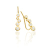 statement 14k gold earring climber with diamonds