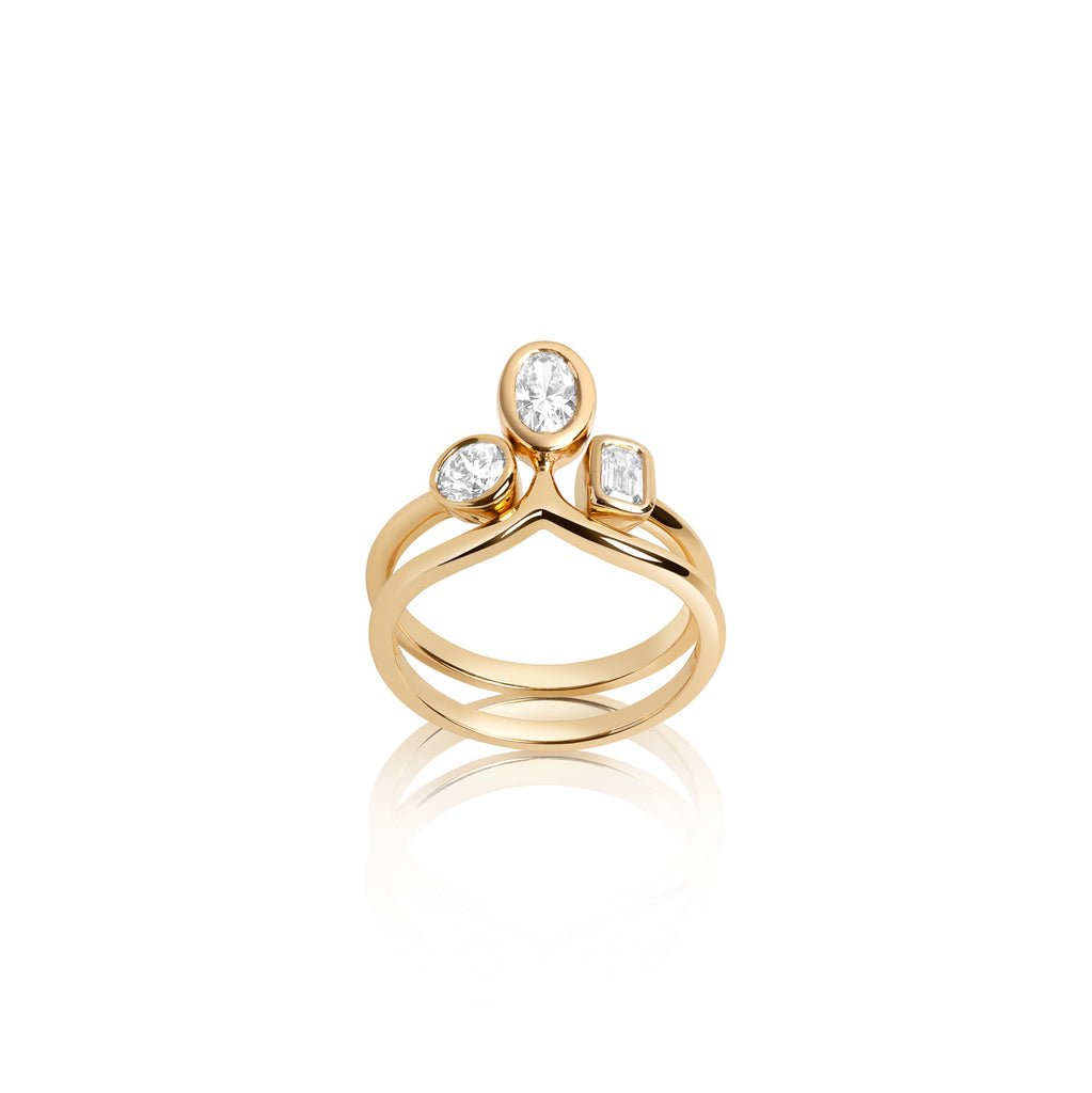 14k gold engagement ring set, diamond engagement rings, stackable diamond gold rings