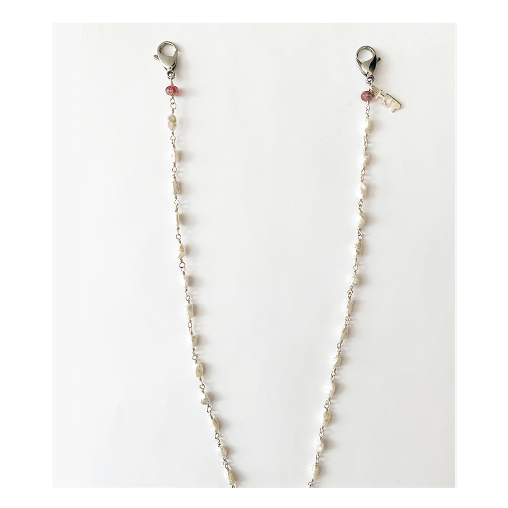 4mm Fresh Water Pearl Face Mask Chain