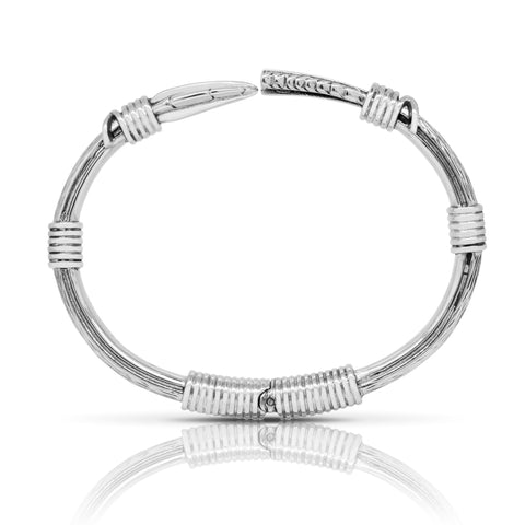 Feather arrow bangle - Steel