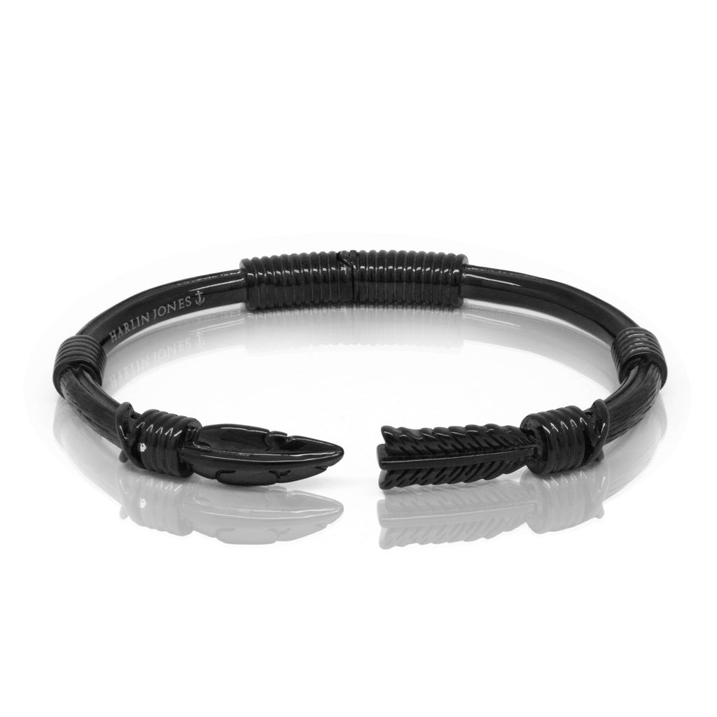 black feather bracelet. designer mens jewellery. designer mens jewelry