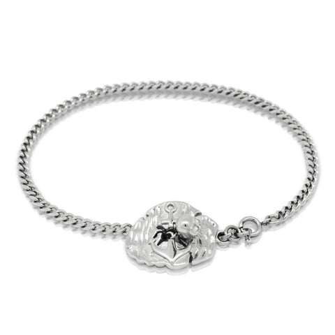 Anchor plate bracelet - Steel