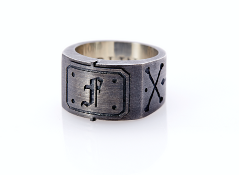 Cross Bones Ring. Pirate Ring. Custom Ring