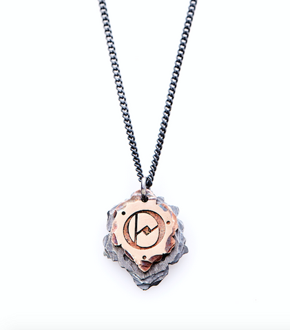Custom Mens Initial Necklace. Mens Rose Gold Initial Necklace