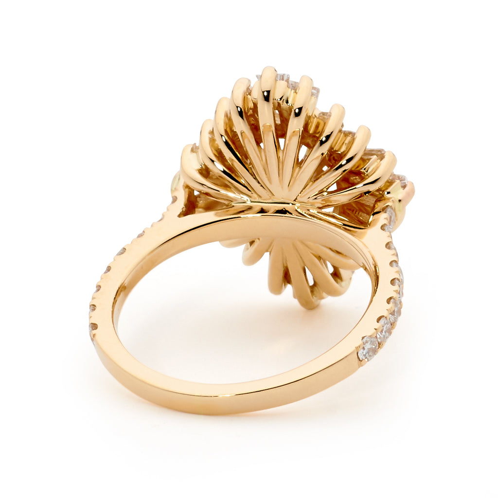 18ct Rose Gold Art Deco Style Diamond Engegement Ring