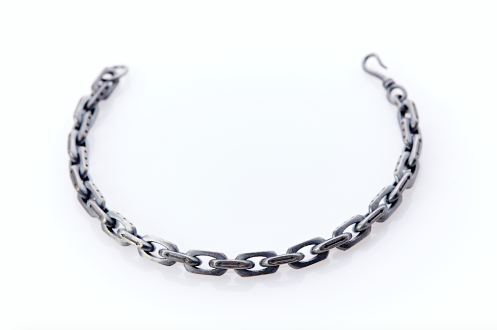 Mens Silver Bracelet. Mens Thick Silver Bracelet . Mens Silver Link Bracelet