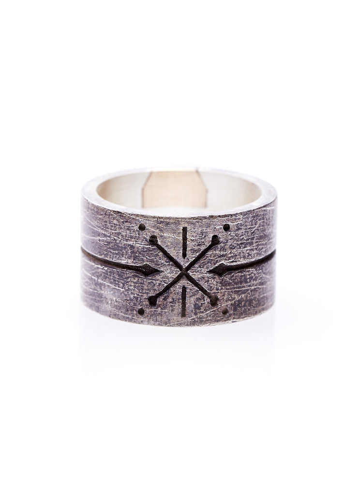 cross bones ring. pirate jewelry. mens style. mens sterling silver rings. oxidised silver ring