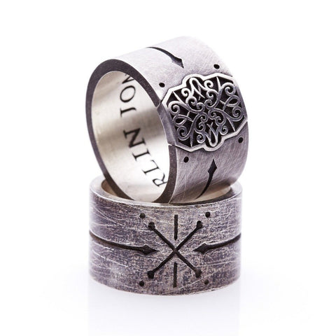 mens pirate ring. mens cross bones ring. mens wedding band. mens silver ring