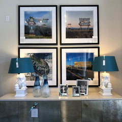Framed fine art photography at Grace Home Furnishings in Palm Springs, California by Amanda Hedlund and Andrew Grant.