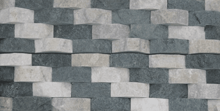 Gray White - 3D Quartz cheap stone veneer clearance - Discount Stones wholesale stone veneer, cheap brick veneer, cultured stone for sale