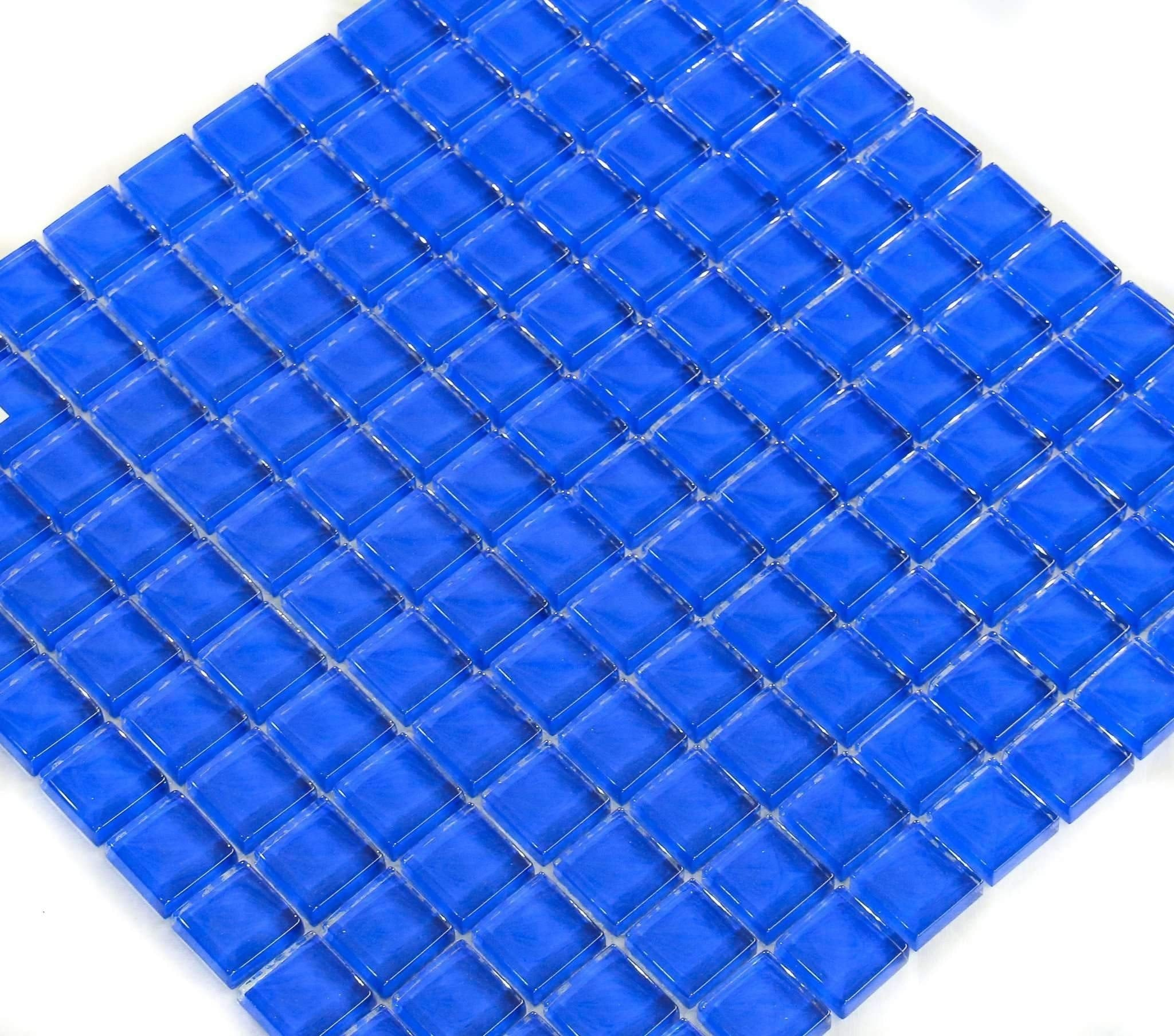 Blue Ruby Glass Tile  Discount Stones