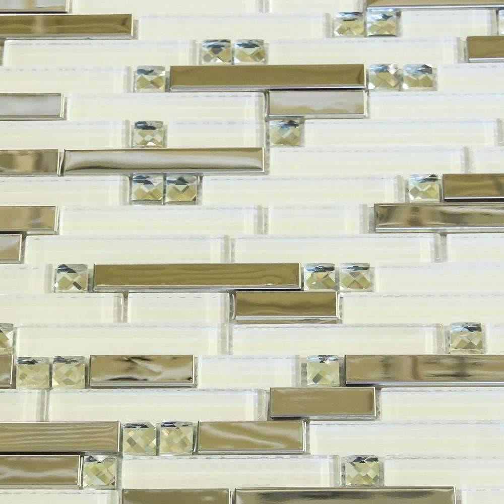 White Aukai - Glass + Steel Mix cheap stone veneer clearance - Discount Stones wholesale stone veneer, cheap brick veneer, cultured stone for sale