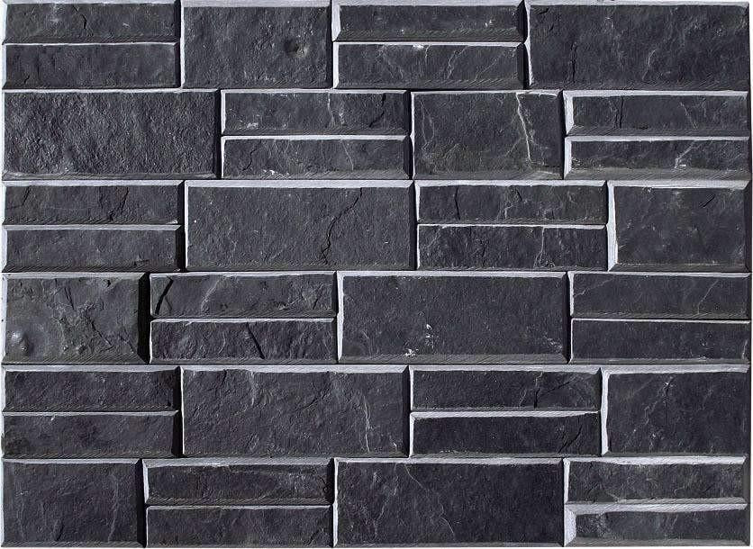 Pristine Black - Newledge Slate cheap stone veneer clearance - Discount Stones wholesale stone veneer, cheap brick veneer, cultured stone for sale