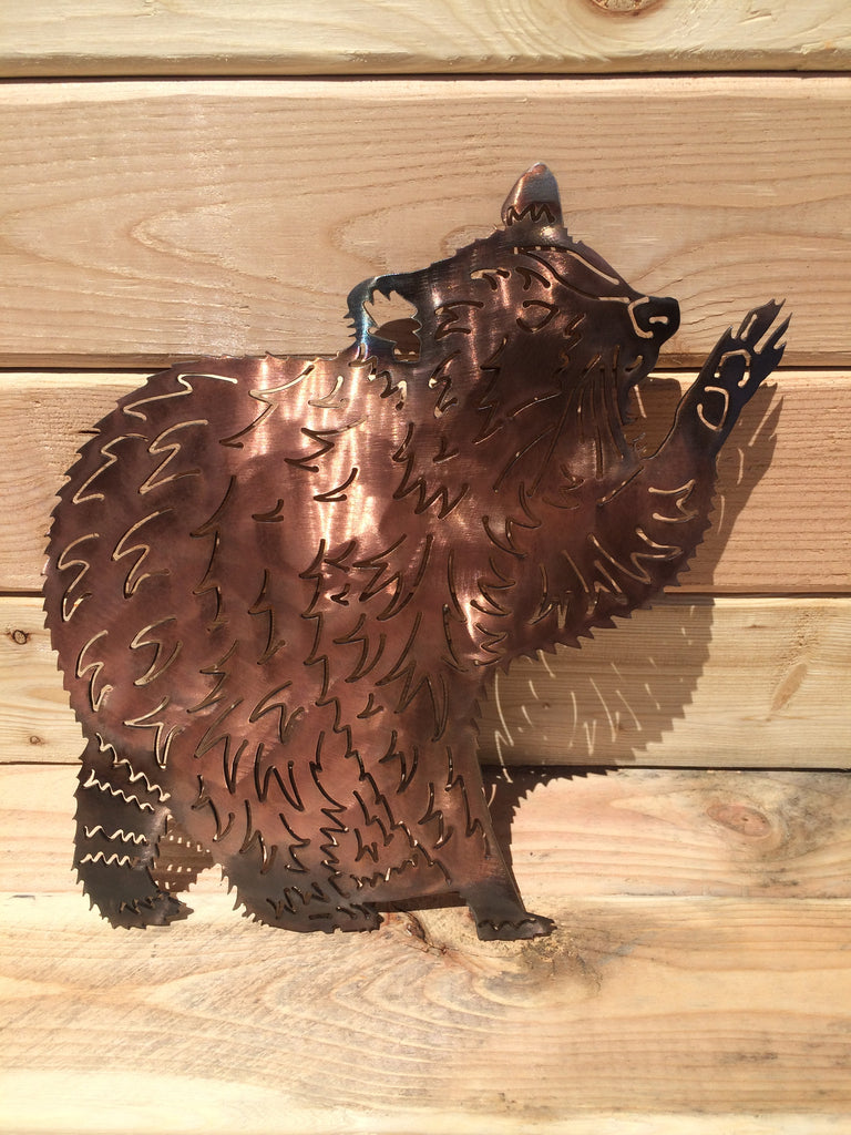 Raccoon Metal Wall Art