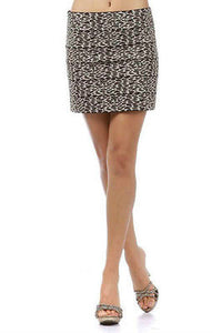 Size S M L Skirt Cheetah Animal Banded New Brown Wild Leopard Mini Print