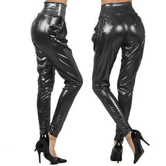 Pants S M L Harem Metallic High Waist Black Tan Shimmer Womens New Fashion Sexy