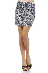 Sexy Club Party Gray Wild Leopard Animal Print Foldover Waist Mini Skirt New