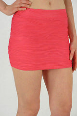 Skirt S M L Fuchsia Pink Mini Texture Wave Ribbed Fabric Sexy Club Stretch New