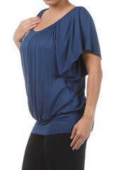 Plus Top Off Shoulder Size Solid Ruched 1X 2X 3X New Sexy Women Casual