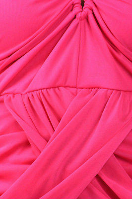 b10290f750a2 ... S M L Dress Halter Fuchsia Solid Mini Mesh Criss Cross Club New Party  Sexy