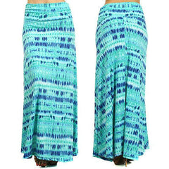Skirt S M L Maxi Abstract High Waist Summer Stretch Long Full Length New Casual