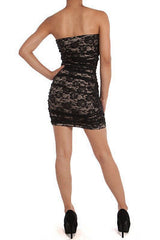 Dress Lace Floral Hook Eye Stretch Mini Sexy Cocktail Club Romantic New S M L