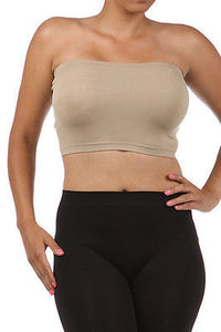 Plus Size Bandeau Bra Top Seamless Tube Strapless 1X 2X 3X New Stretchy