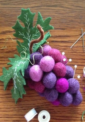 Bacchus - a fantasy grape pincushion