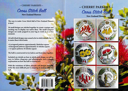 Cherry Parker's Cross Stitch ball- New Zealand Flowers