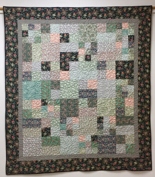 Fireside Squares- a floral quilt