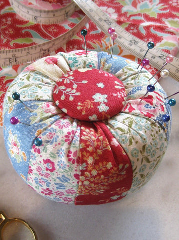 Miss Muffet- a tuffet pincushion