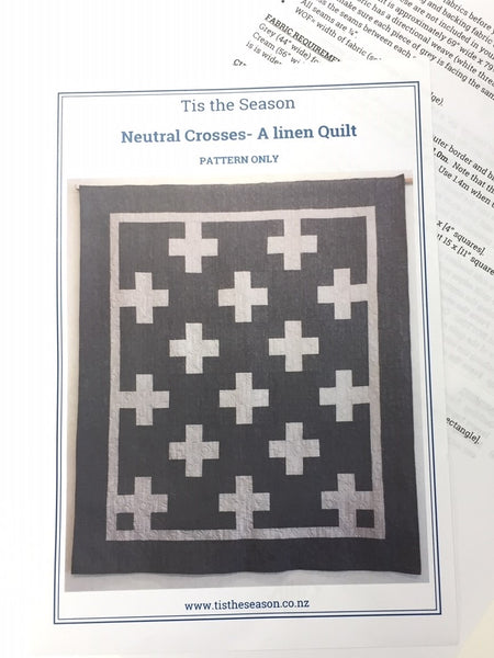 Neutral Crosses Quilt pattern