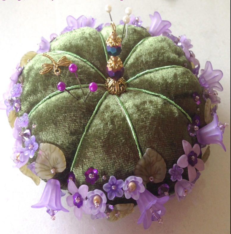 Violet - a flower pincushion