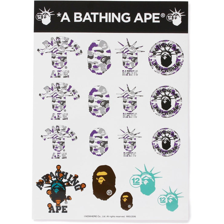 BAPE - NYC 12TH STICKER SHEET