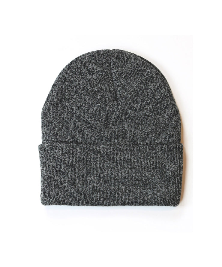 PAPER PLANES - PATCH SKULLY BEANIE (HEATHER CHARCOAL)