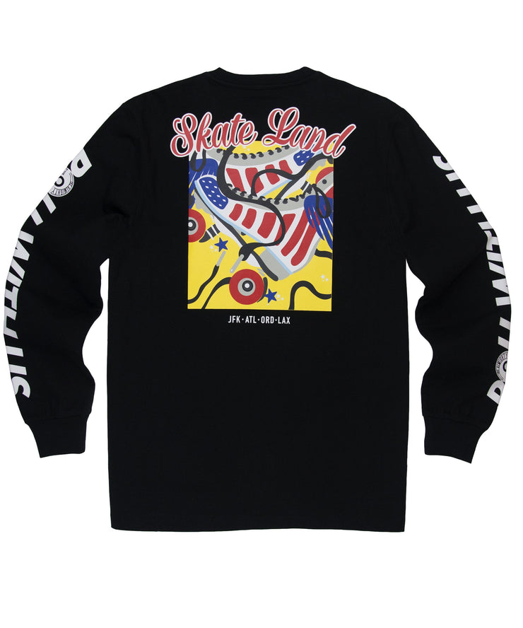 PAPER PLANES - ROLL WITH US L/S TEE (BLACK/BLK)