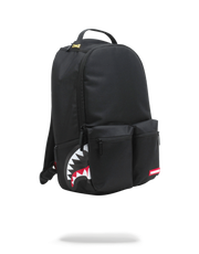 SPRAYGROUND - DOUBLE CARGO SIDE SHARK BACKPACK (BLACK)