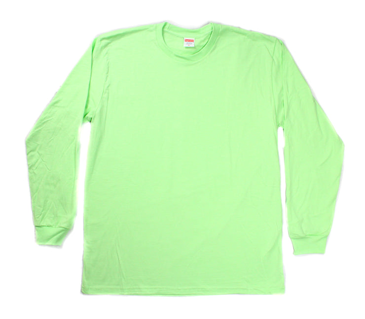 SUPREME - BLANK TEE L/S (LIME GREEN)
