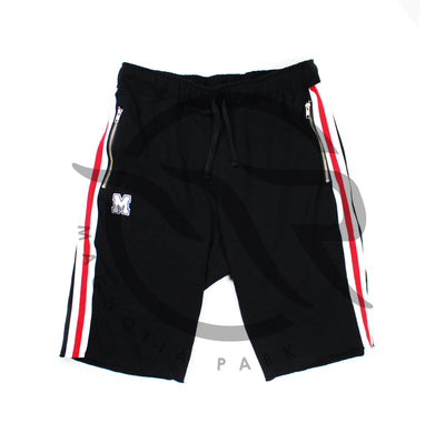 "(OC)MAGNOLIA PARK - ""VARSITY"" TERRY SHORTS (BLACK/RED)"